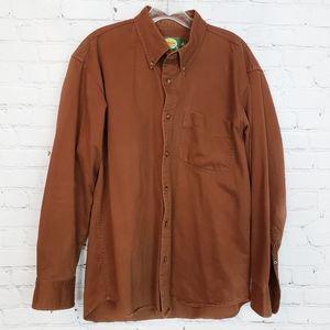 Cabela's Soft Canvas Button Down Shirt Men's M